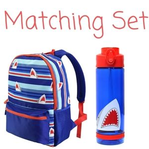 🦈🎒 NWT‼️ Pep Rally brand Backpack & Water Bottle
